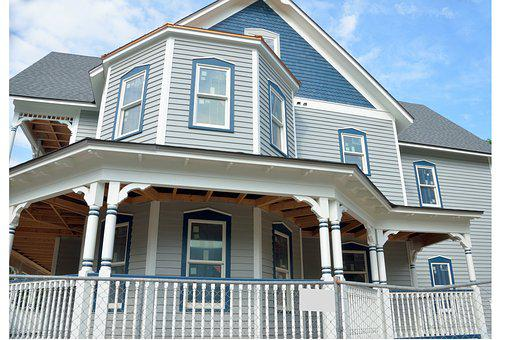 New, Home, Construction, Retro Design, Design, House