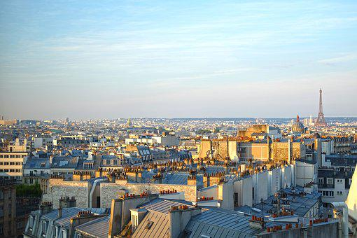 Paris, City, Eiffel Tower, Day, Panoramic, Capital