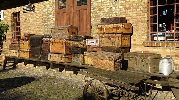 Railway Station, Travel, Luggage, Train, Railway