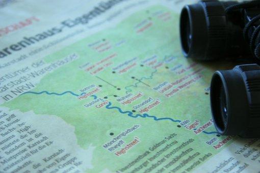 Travel, Map, Binoculars, Trip, Driving, Germany, Europe