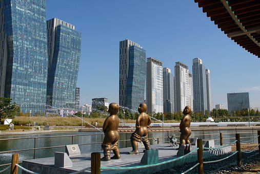 Songdo Incheon Korea, Building, Songdo Central Park