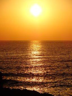 Sun, Sunset, Sea, Summer, Ocean, Sunset On The Sea