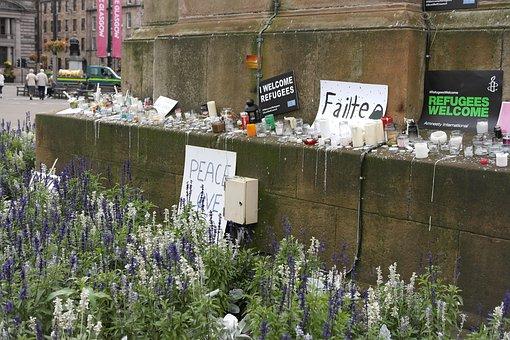 Refugees, Accept, Scotland, Demonstration, Peace