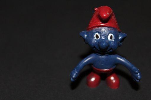 Smurf, Fig, Blue, Red, Figures
