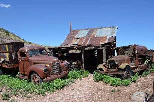 Jerome, Arizona, Copper, Ghost, Rusty, Historic
