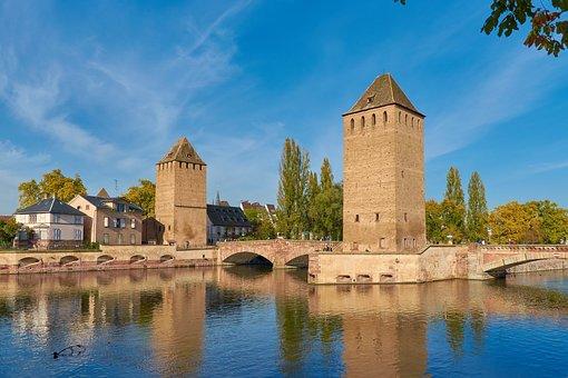 Alsace, Strasbourg, Henry Tower, Pont Envelopes