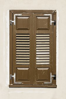 Window, Old Window, Wood, Wooden, Blinds, Wall, Retro