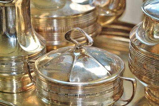 Silverware, Silver, Sugar Bowl, Jugs, Silver Tankard