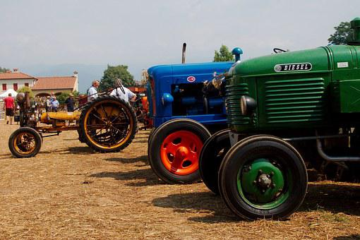Tractors, Threshing, Agriculture