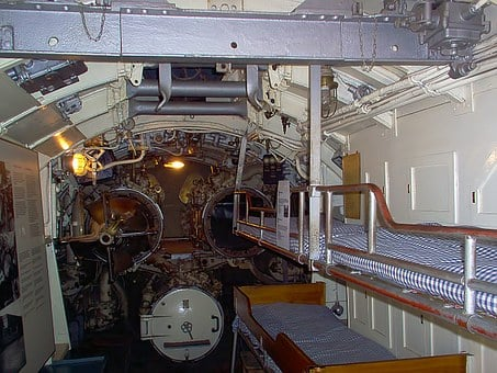 Bunks, Beds, Torpedo Tubes, Submarine, European Mink