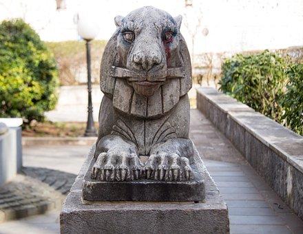 Leo, Gargoyle, Sculpture, Monument, Statue, Travel