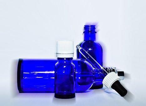 Hydrosol, Bottle, Aromatherapy, Hydrolatherapie, Blue
