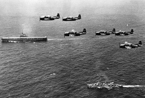 Second, War, Planes, Ship, Mar, Mediterranean