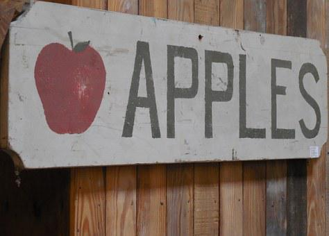 Apple, Sign, Symbol, Icon, Design, Fruit, Label
