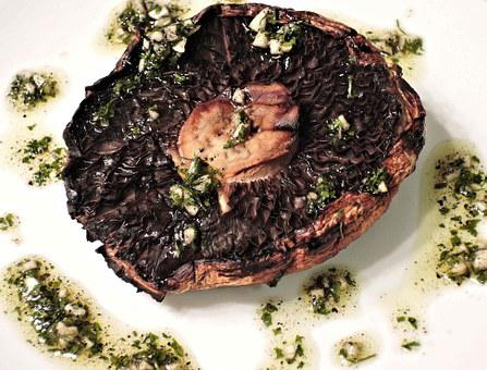 Bbq Portobello Mushroom, Garlic, Oil, Parsley, Spices