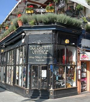 City, Old, Portobello, Shop, London, England