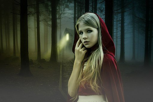 Gothic, Fantasy, Dark, Girl, Dark Fairy Tale, Red Hood