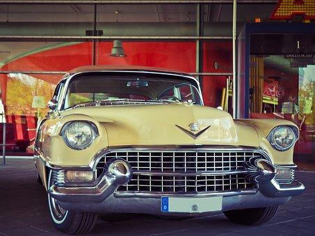 Auto, Cadillac, Oldtimer, Classic, Vehicle, Chrome