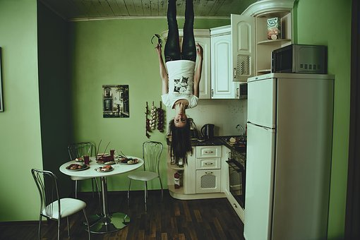 Girl, In Ceiling, Head Down, The Gloom, Gloominess
