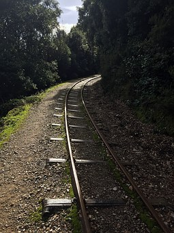 Train Tracks, Forest, Greece, Pillion, Track, Railway