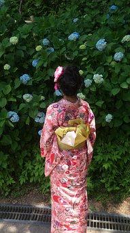 People, Women's, Woman, Japan, Kimono, Figure, Bathrobe