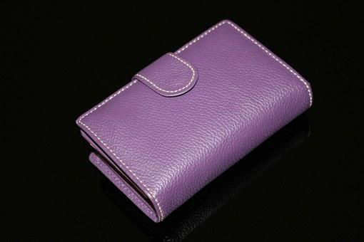 Wallet, Purple Wallet, Purple, Money, Purse, Billfold