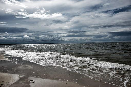 Sea, Beach, The Baltic Sea, Expression, The Dynamics Of