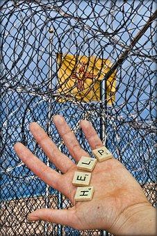 Prison, Jail, Detention, Fence, Wire, Barbed, Prisoner
