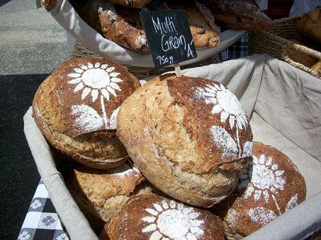 Bread, Loaves, Artisan, Fresh, Bakery, Brown, Wheat