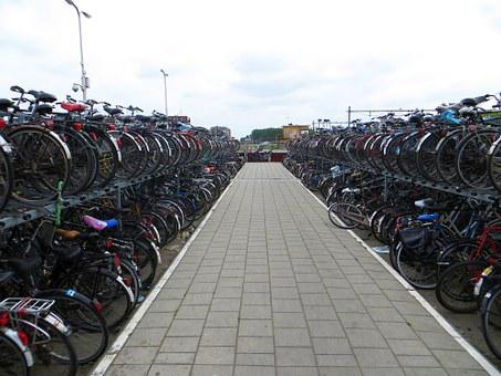 Bicycle, Rack, Delft, Holland, Bikes, Netherlands