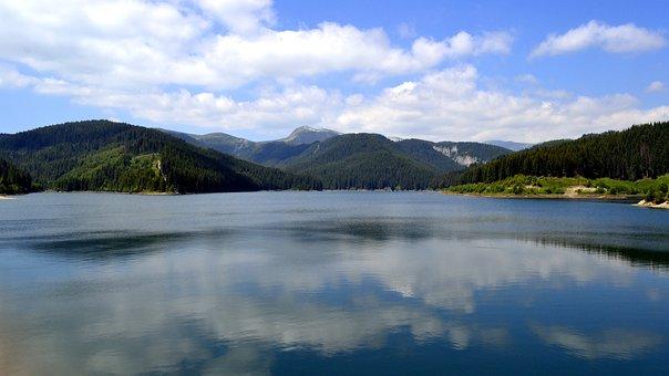 Bolboci, Lake, Bucegi, Landscape, Mountains, Sky