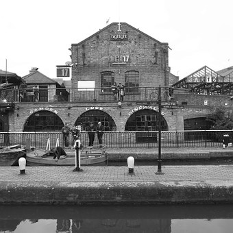 United Kingdom, London, Camden Market, Camden Bridge