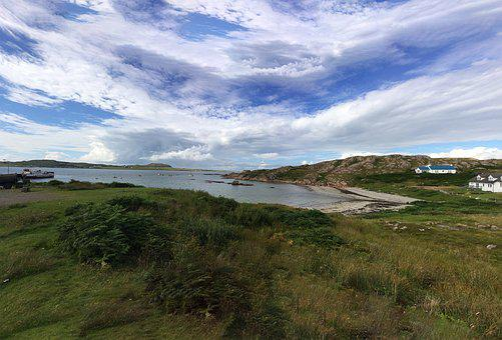 Scotland, Isle Of Mull, Iona, Isle, Mull, Scottish