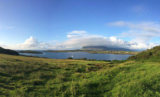Scotland, Isle Of Mull, Ardtun, Mull, Water, Scenery
