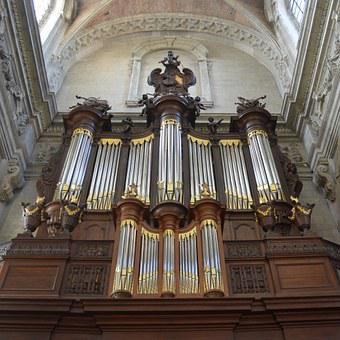 Organ, Musical Instrument, Church, Abbey Of Grimbergen