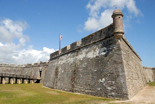 Castle, San Marcos, Landmark, Fort, Florida, Old