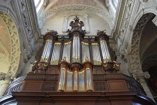 Organ, Musical Instrument, Church, Abbey Of Grimbergen