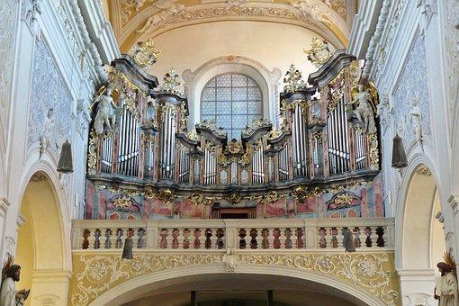 Church Organ, Organ, Church, Bamberg, Organ Whistle