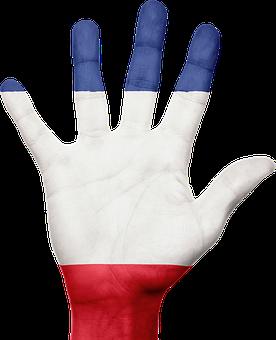 France, Flag, Hand, French, Patriotic, Patriotism