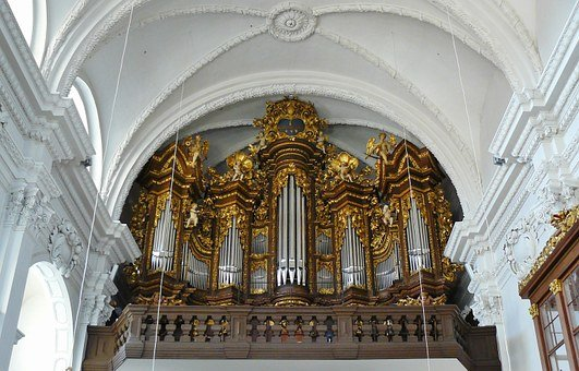 Church Organ, Organ, Church, Bamberg, Organ Whistle