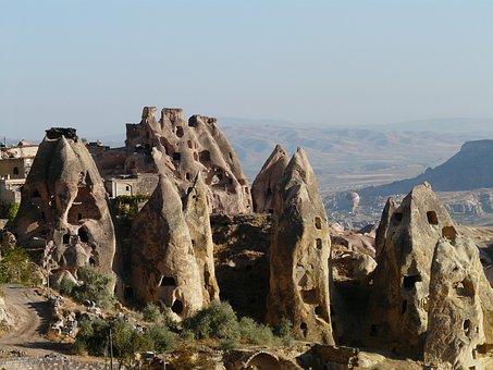 Uchisar, Tuff Stone Dwellings, Cappadocia, Nevşehir