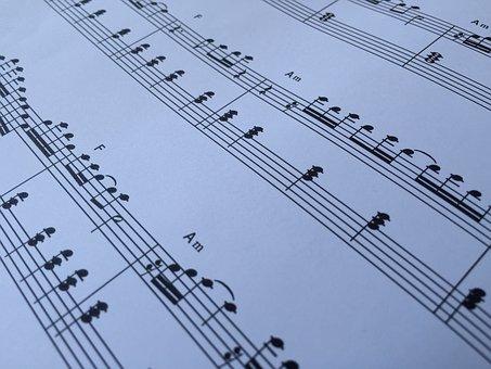 Sheet Music, Notenblatt, Music, Clef, Composition