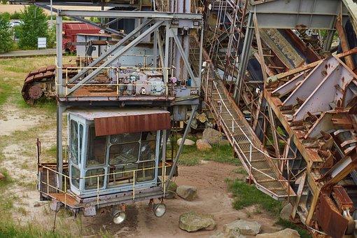 Open Pit Mining, Brown Coal, Excavators