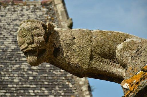 Image, Gargouille, Gargoyle, Stone, Church
