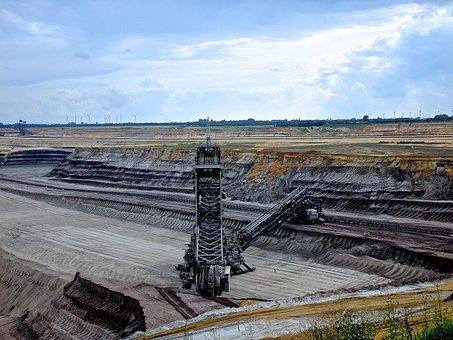 Excavators, Garzweiler, Brown Coal, Nature, Destruction