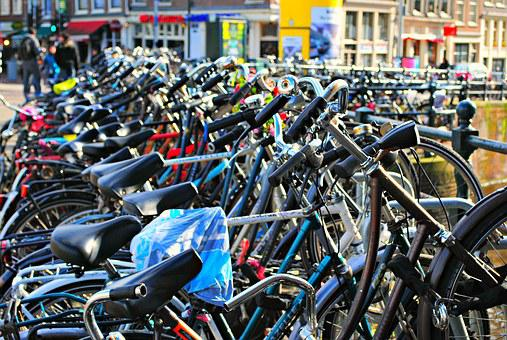 Bikes, Amsterdam, Netherlands, Holland, Europe, Dutch