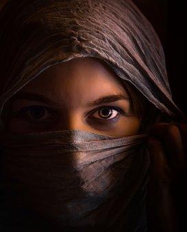Woman, Girl, Wreathed, Tajomná, The Secret Of, Orient