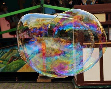 Soap Bubble, Soap Bubbles, Giant Bubble, Colorful