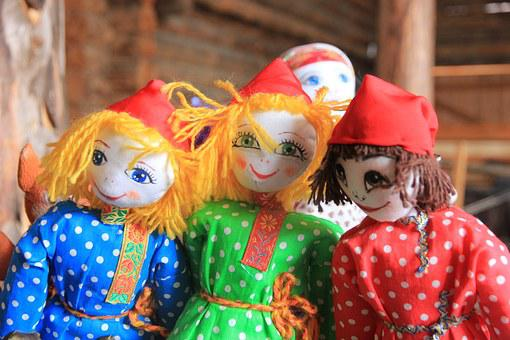 People's, Baby Doll, Handmade, Spring, Carnival