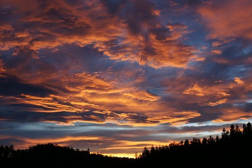 Sky, Clouds, Night, Sunset, Dark, Horizon, Landscape